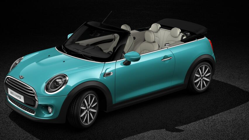 MINI Cooper Convertible Interior surfaces with MINI Yours Dark Cottonwood finish