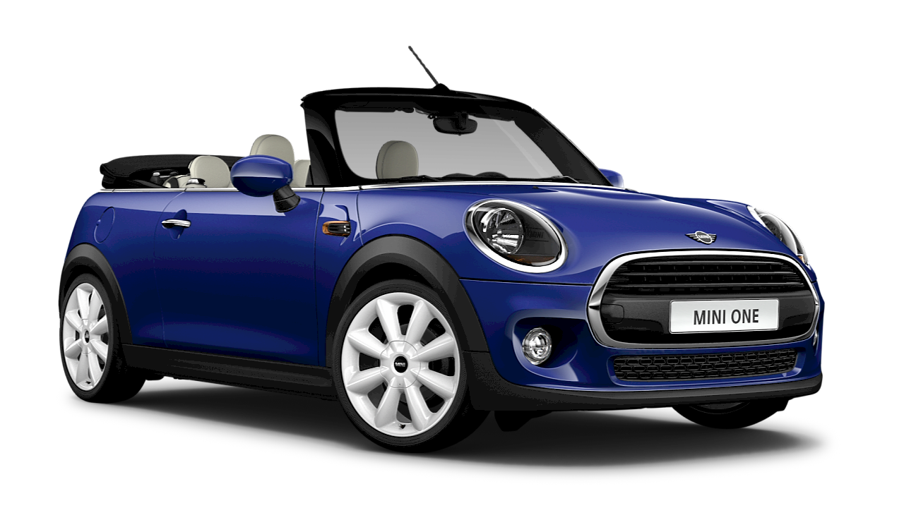 MINI One Convertible – blue – side view