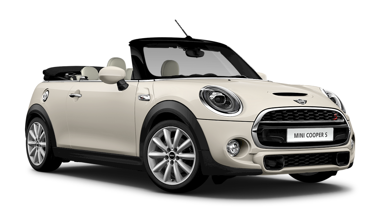 MINI Cooper S Convertible – blue – side view