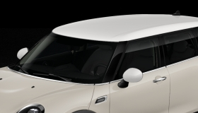 Roof and mirrors caps in white