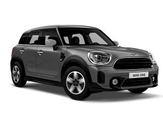 MINI One Countryman –sage green – front and side view