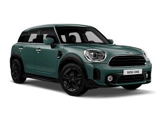 MINI One Countryman – sage green – front and side view