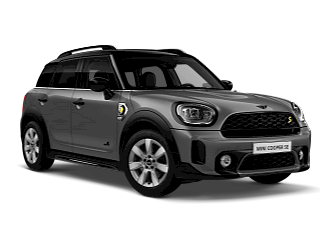 MINI Cooper SE All 4 –white silver – front and side view
