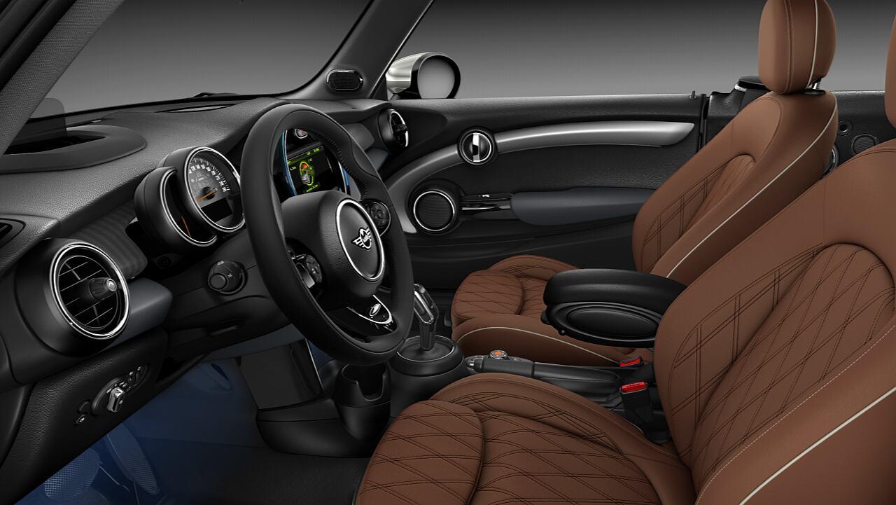 Nội thất da Chester Malt Brown của MINI Cooper S Convertible.