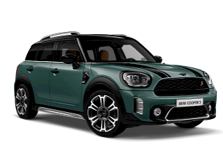 MINI Cooper S Countryman – sage green – front and side view