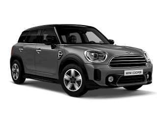 MINI Cooper Countryman –sage green – front and side view
