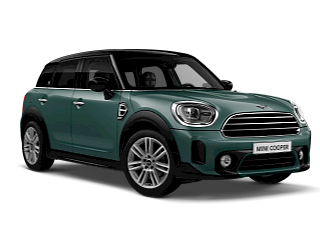 MINI Countryman Cooper – sage green – front and side view