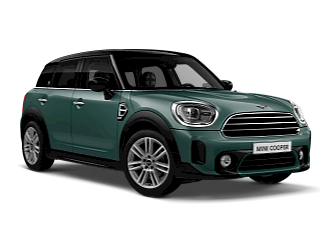 MINI Cooper Countryman – sage green – front and side view