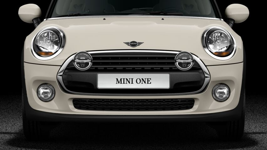 MINI One Hatch 3-Door additional LED headlights in Chrome or Black High Gloss