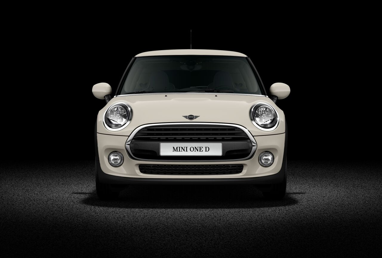 MINI Cooper One D front view.