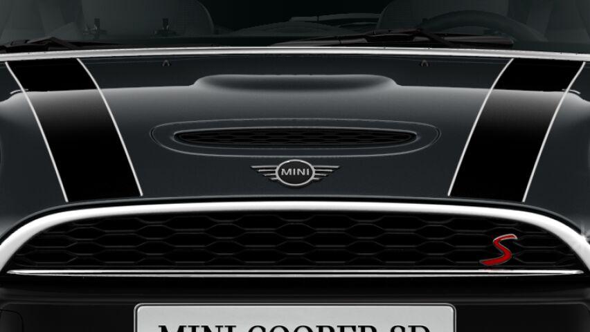 MINI Cooper SD 3-deurs luchthapper in de motorkap
