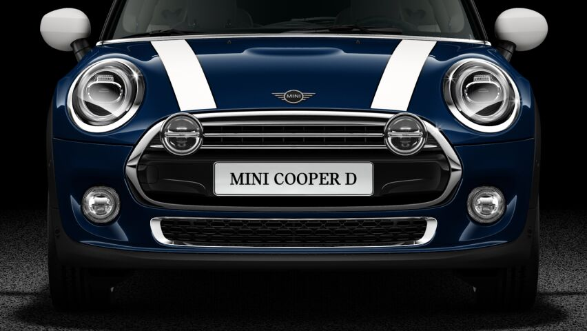MINI Cooper D 3 Door LED Chrome or Black High Gloss headlights..