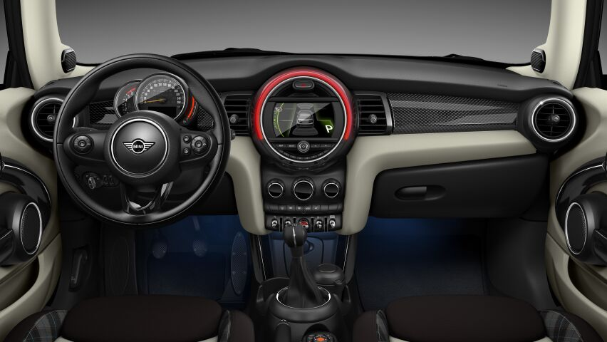MINI Cooper D 3 Door interior dashboard view