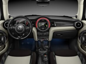 MINI Cooper D 3 Door interior dashboard and steering wheel