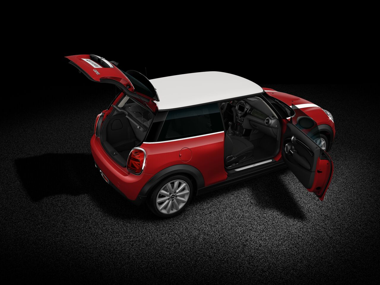MINI Cooper 3 Door full open body profile