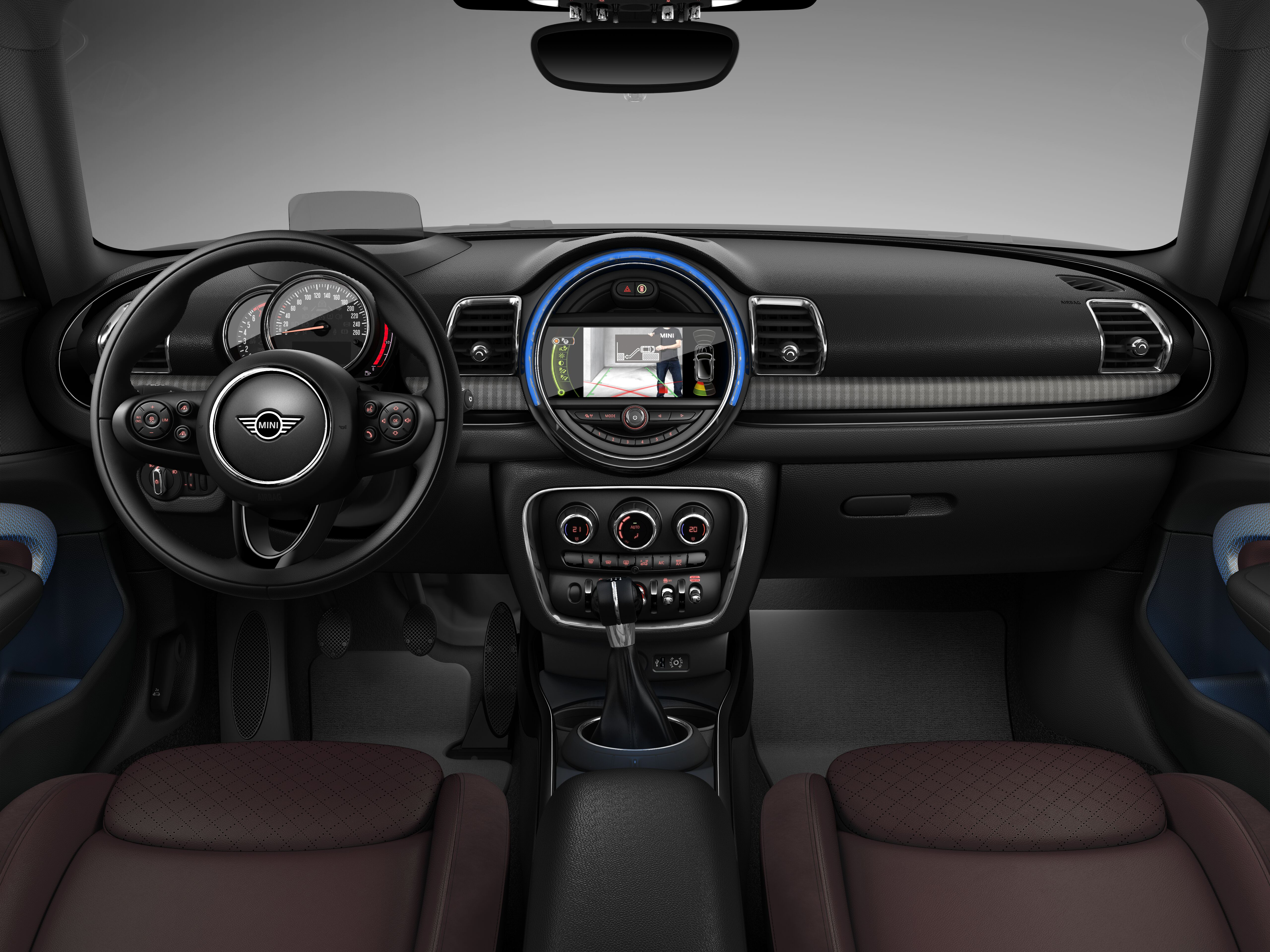 MINI Cooper S Clubman interior; dashboard and steering wheel