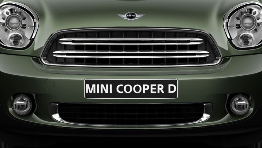 MINI Cooper D Countryman silver radiator grille bars
