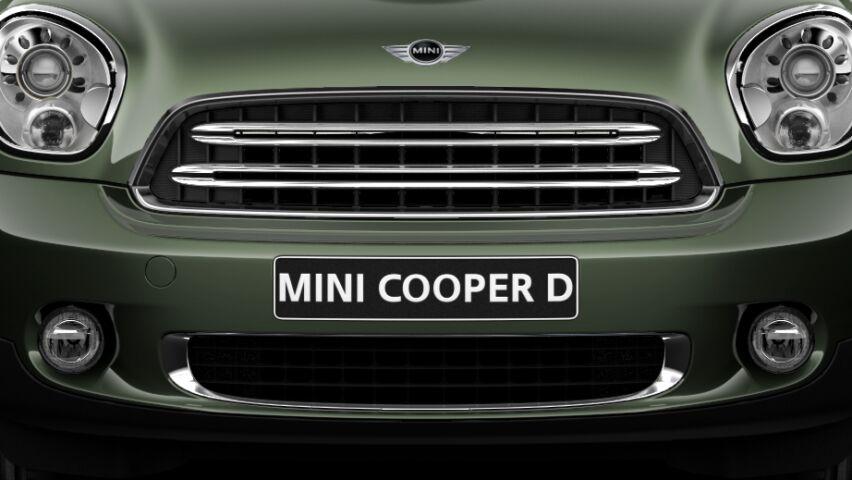 MINI Cooper D Countryman zilverkleurige grillelamellen