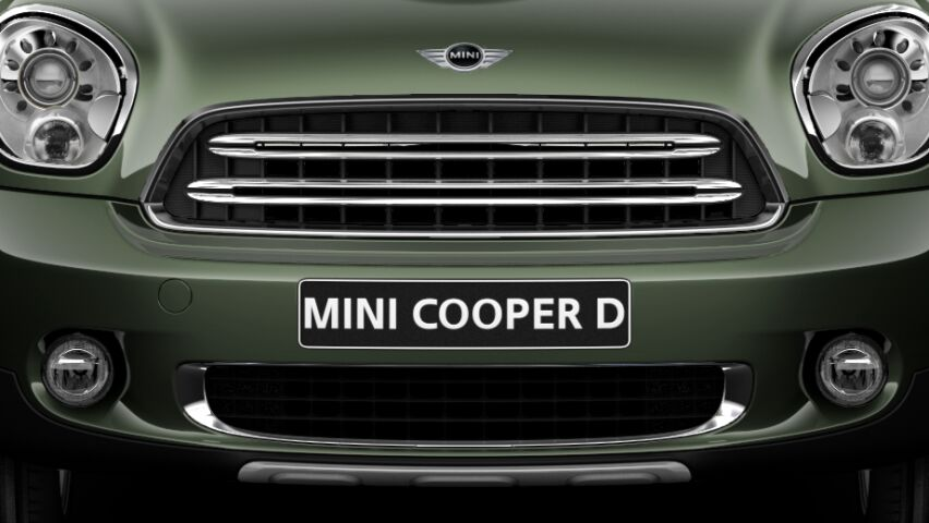 MINI Cooper D Countryman All4 silver radiator grille bars