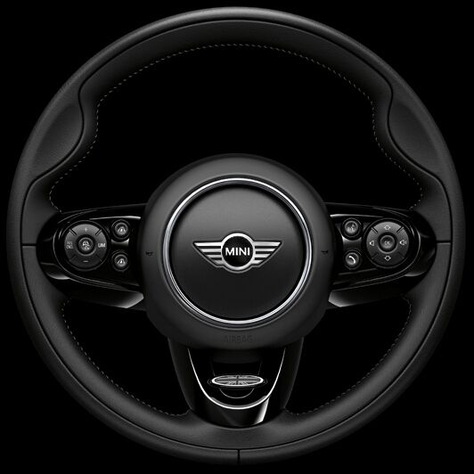 John Cooper Works sport leather steering wheel