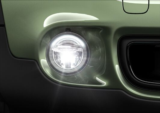 LED foglights, front
