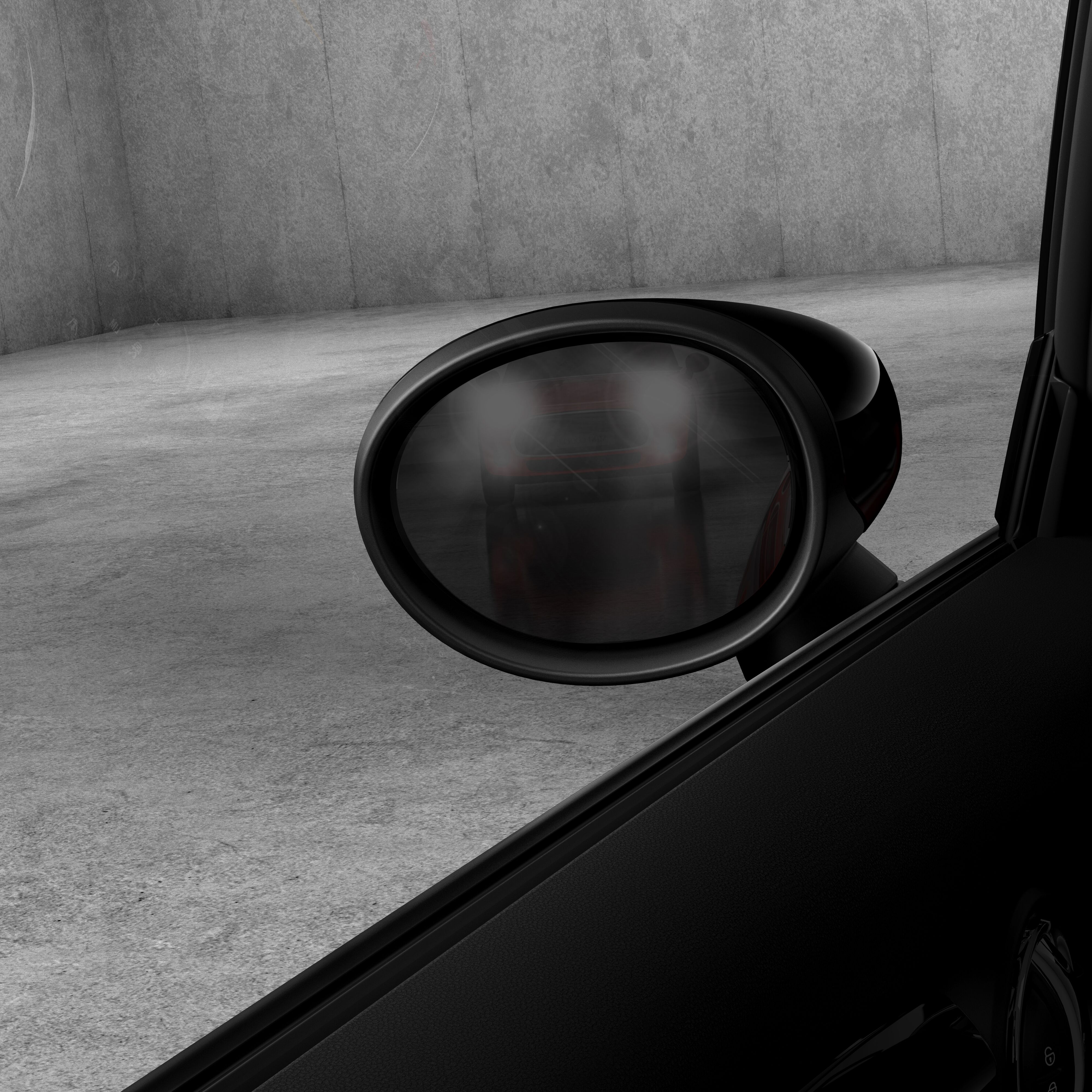 Interior and Exterior mirrors with automatic anti-dazzle function