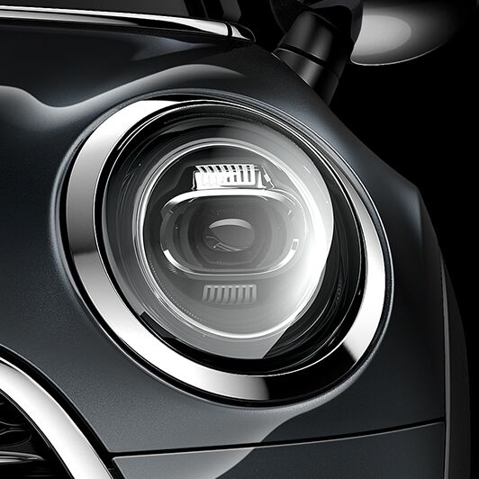 LED headlights with extended contents