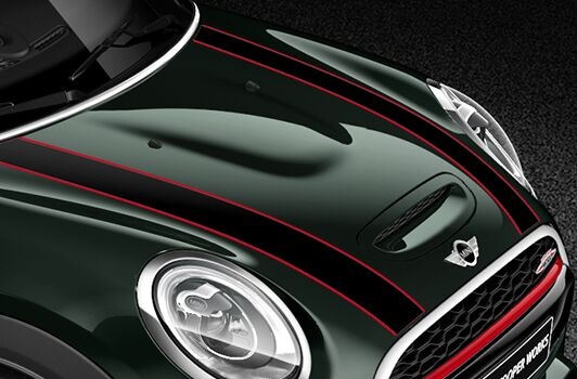 John Cooper Works Bonnet Stripes