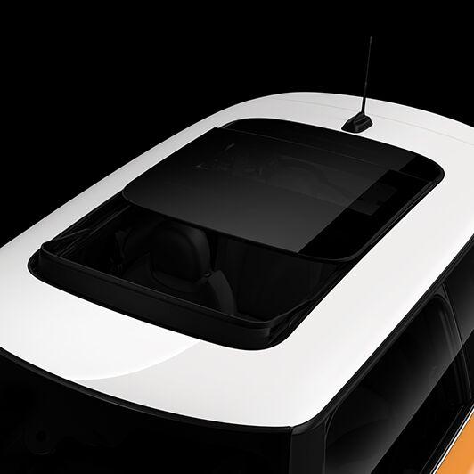 Panoramic electric glass sunroof