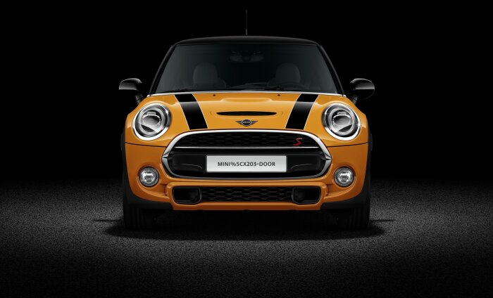 MINI 3 door hatch exterior front profile