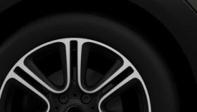 "18"" легкосплавные диски Twin Spoke Burnished, черного цвета"