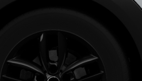 "17"" 5-Star Double Spoke Alloys in Black"