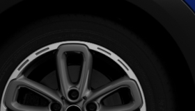 "17"" 5-Star Triangle Spoke alloy wheels in anthracite"