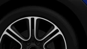 """18"""" Twin Spoke Burnished Black Alloy Wheels"""