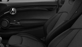 Stoff-/Leatherettekombination Black Pearl Carbon Black/Carbon Black