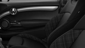 Cloth/leather combination Diamond Carbon Black/Carbon Black