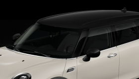 Roof and mirror caps in Black