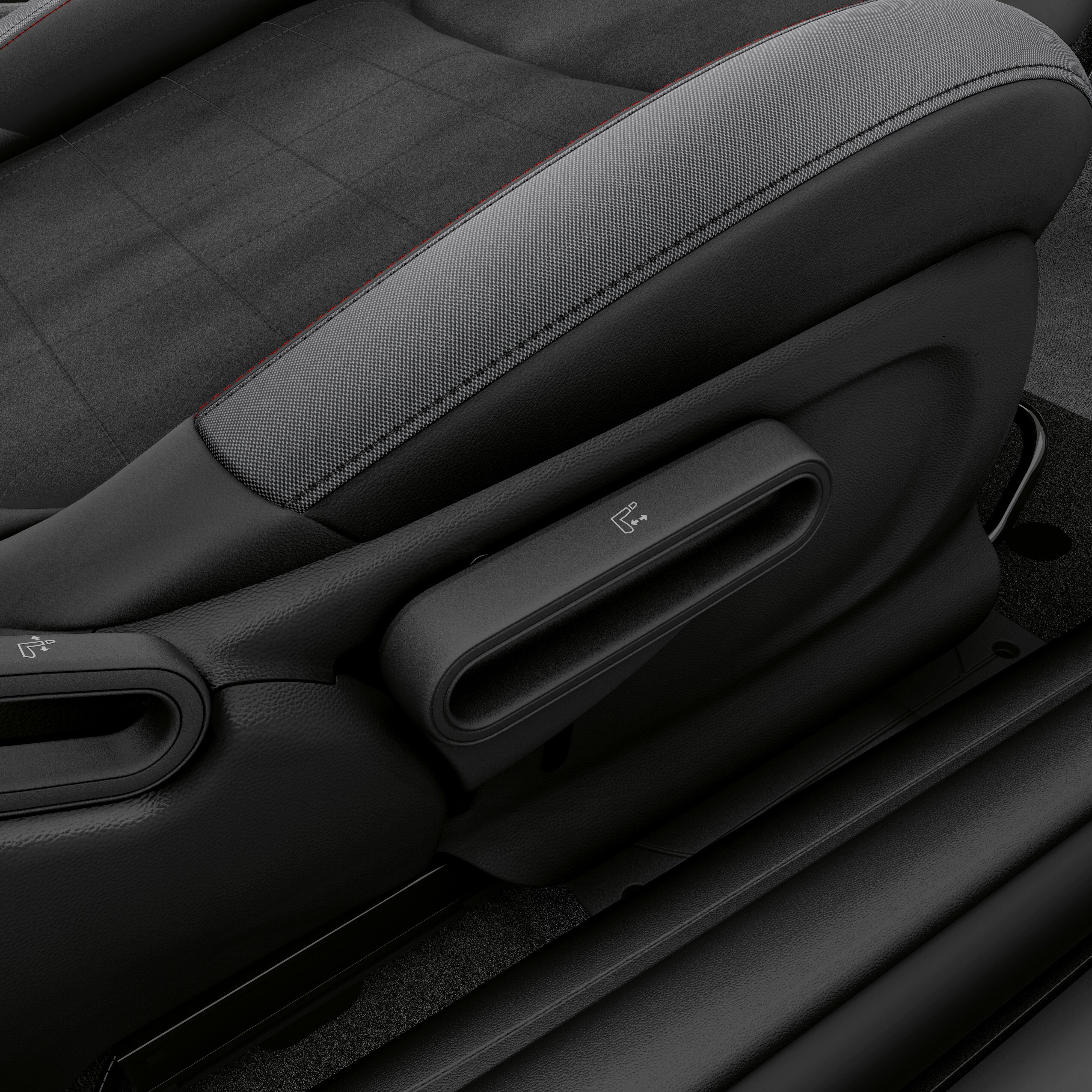Pass. seat height adjustment
