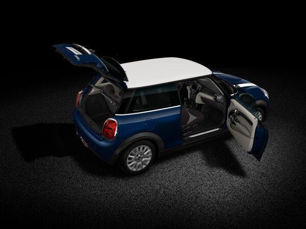 MINI Cooper D 3 Door full open body profile view