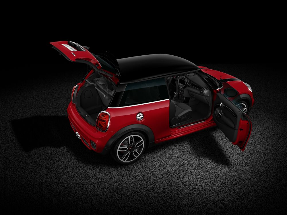 MINI John Cooper Works Hatch full open-body profile