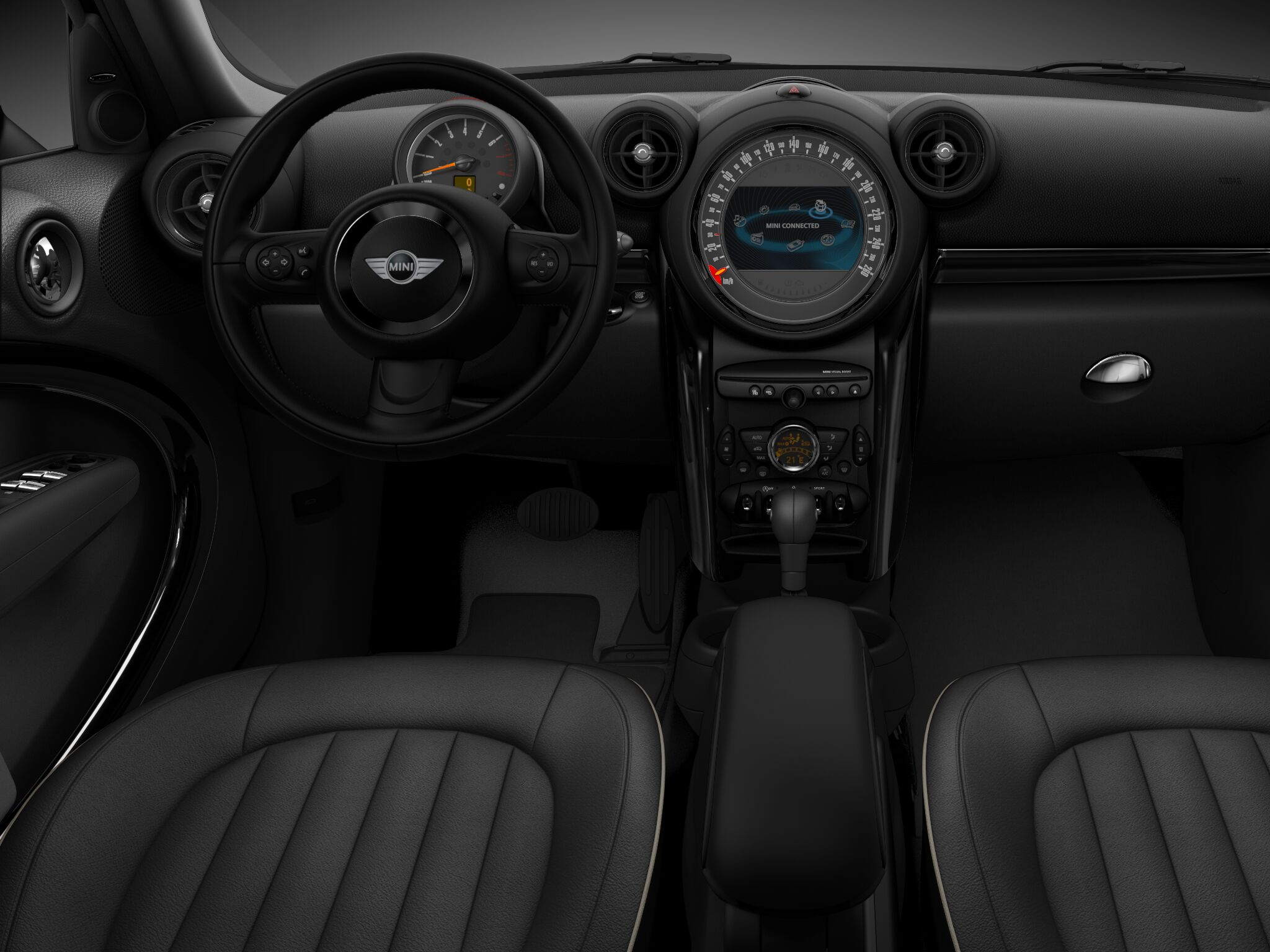 MINI Cooper D ALL4 Countryman cosmos cloth interior