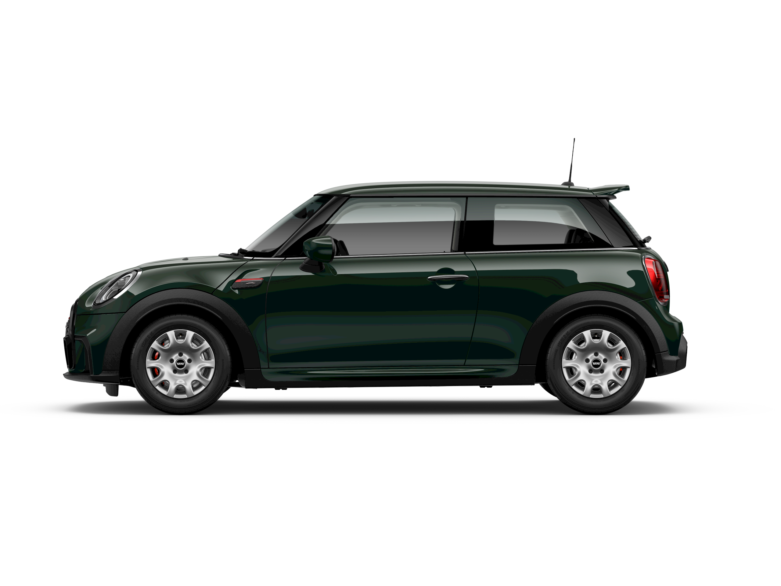 MINI John Cooper Works –side view –green and red